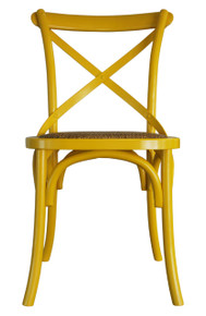 Yellow Provincial Cross Back Chair