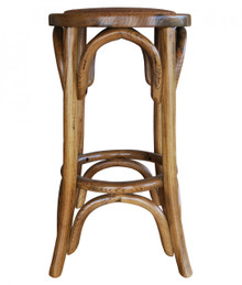 Natural Provincial Crossback Breakfast Stool Front