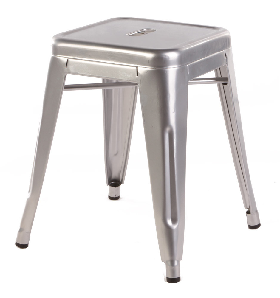 replica tolix stool 46cm silver set of 4 199. Black Bedroom Furniture Sets. Home Design Ideas
