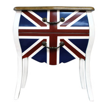Union Jack Bedside Table