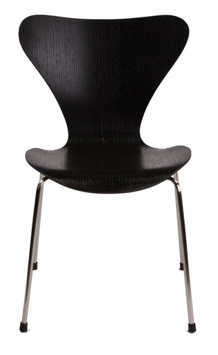 replica arne jacobsen series 7 chair black. Black Bedroom Furniture Sets. Home Design Ideas