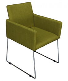 Enna Reception Chair - Moss Green