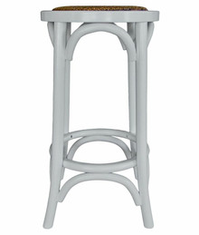 Provincial Crossback Breakfast Stool - White