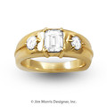 Men's Emerald Cut Diamond Ring