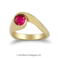 Natural Ruby Swirl Ring