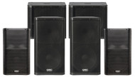 "2 x QSC KW152 1000W 15"" PA Speakers, 2 x QSC K12 1000W 12'' Speakers and 2 x QSC KW181 1000W 18"" Subwoofers (250 People)"