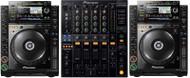 2 x Pioneer CDJ-2000s and 1 x Pioneer DJM-800 or DJM 750 Mixer