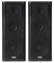 "2 x QSC KW153 1000W 15"" 3-way PA Speakers (120 People)"