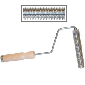 Aluminum Ribbed Roller, Hardwood Handle