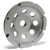 This single row cup wheel is designed for rough surface grinding on concrete.