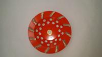 """12 Segment Soft Bond Diamond Cup Wheel for Hard Concrete (7"""" x 5/8-11) PERFECT for  HARD CONCRETE!!"""