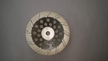 "12 Premium Segmented Diamond Cup Wheel High Hub (7"" x 5/8-11 ) PREMIUM blade for aggressive grinding"