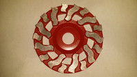 TWISTER NON-THREADED CUP WHEEL  PREVENT gouging concrete