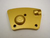 PCD Whole w/ Carbide Backer for level aggressive grinding.