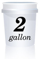 2 Gallon White Bucket