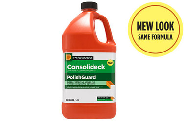 Prosoco Consolideck Polish Guard is a Durable high-gloss, protective coating increases stain resistance of interior concrete floors. Ideal for steel-trowled, burnished, polished or decorative concrete and terrazzo.