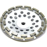 "7"" X 5/8""-11 Diamond Cup Wheel - Double Row for Concrete, Masonry and Similar Materials"
