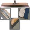 "22"" Hardwood Smoother/Spreader Frame, 23-1/2"" Blade, Threaded Handle Adapter"