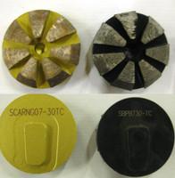 Terrco Speed Shift Diamond Beveled Edge Disc grinding system