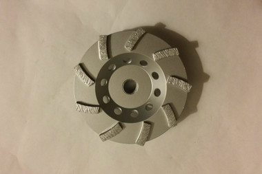 "4.5"" Threaded High Hub Premium 9 seg Diamond Cup Wheel (5/8-11 arbor) GREAT for getting in CLOSE to edges"
