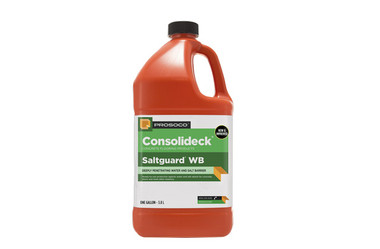Consolideck Prosoco Salt Guard WB protects from the salts of the Northeast on concrete.