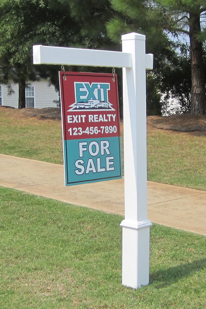 Vinyl Real Estate Post Pvc Yard Sign Bridgeport Post
