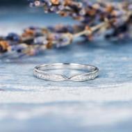 Diamond Eternity Band Stacking Ring