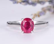 Pink Tourmaline Engagement Ring Wedding Ring