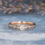 Antique Thin Diamond Engagement Ring