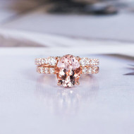 Oval Cut Wedding Ring Bridal Set