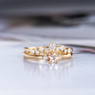 Yellow Gold Bridal Set Engagement Ring Set