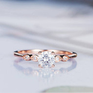 Moissanite Engagement Ring Diamond Wedding Ring
