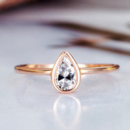 Pear Shaped Moissanite Ring Wedding Ring