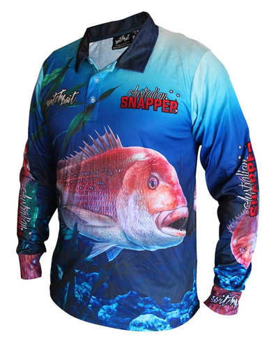 Snapper fishing shirt switchbait custom fishing for Fishing shirts on sale