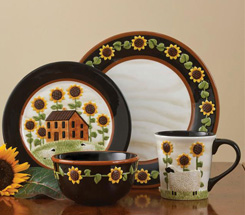 House with Sunflowers Dinnerware
