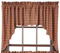 Country And Primitive Style Curtains Panel Sets