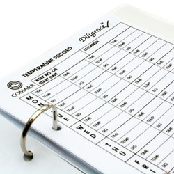 Comark A5 Temperature log book