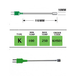 KHS01- K Type Plug Mounted Surface Probe (Band) 110mm x 10mm | Thermometer Point