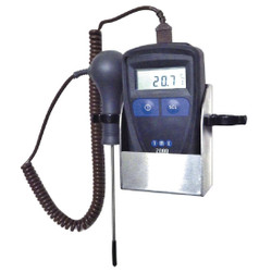 TME MM2000 Thermometer Wall Kit With Needle Probe & Wallmount Holder   Thermometer Point