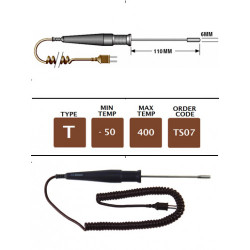 TS07 - T Type High Temperature Surface Probe 110mm x 6mm | Thermometer Point