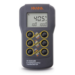 Hanna HI-93532R Dual-input, K-Type Thermocouple Thermometer | Thermometer Point