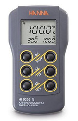 Hanna HI93551N Single Channel K, J, T-Type Thermocouple Thermometer | Thermometer Point