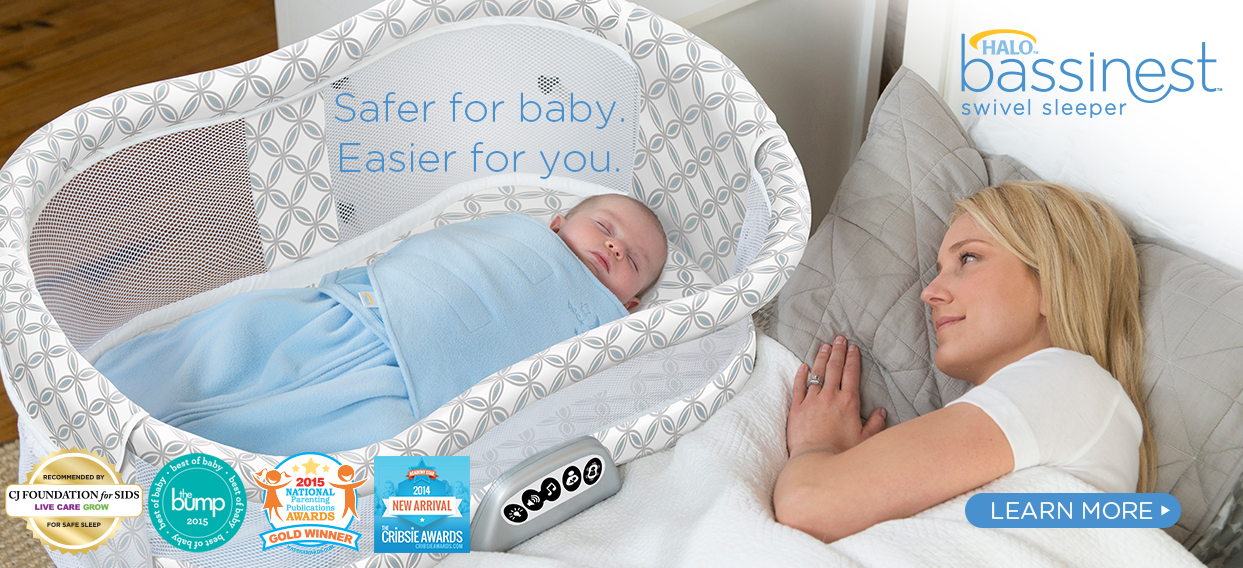 HALO Bassinest Swivel Sleeper: Safer for Baby.  Easier for you.