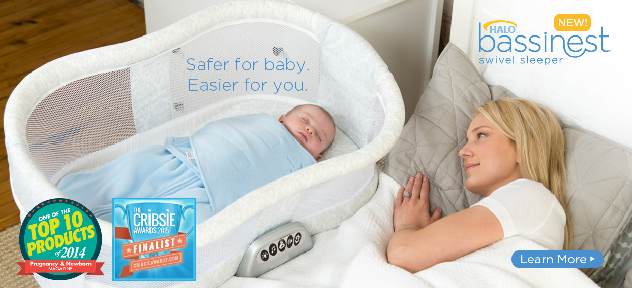 HALO Bassinest Swivel Sleeper Safer for baby easier for you