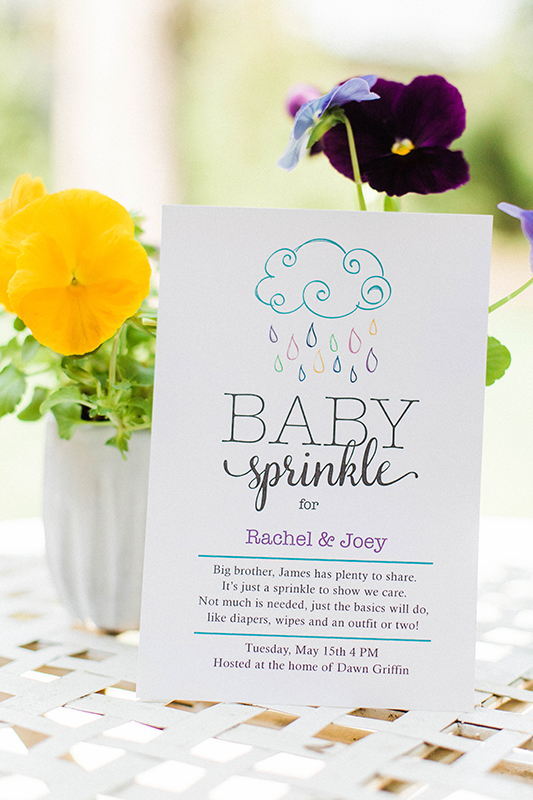 Baby sprinkle invitation