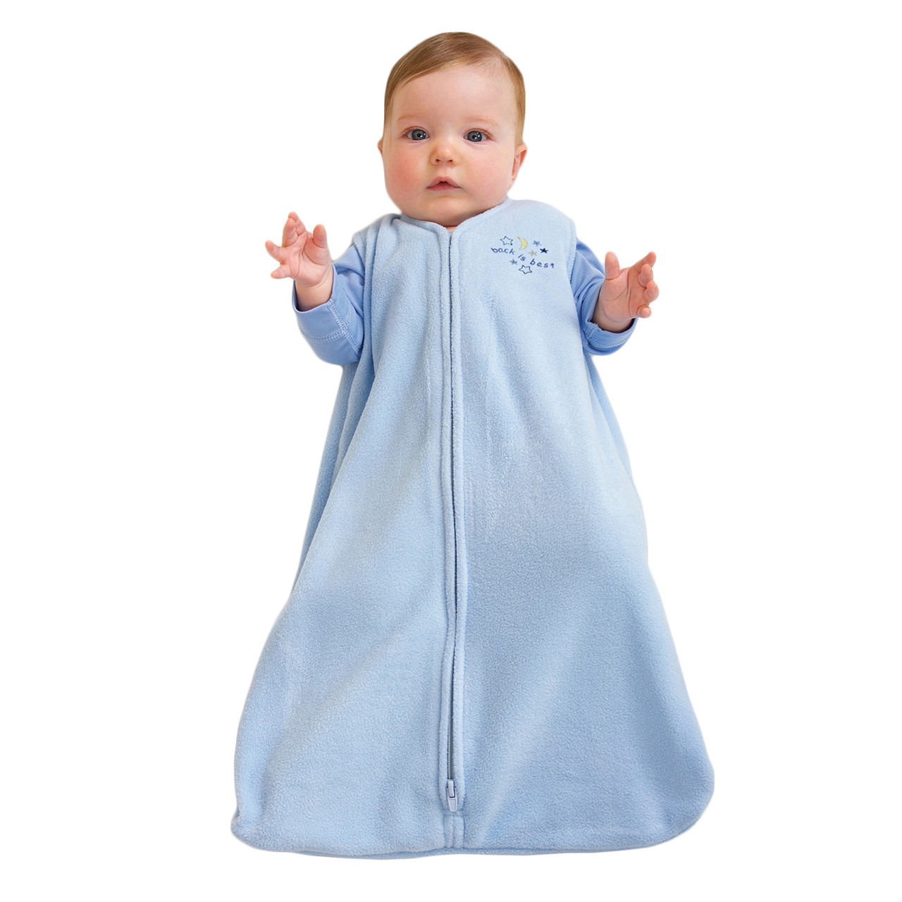 Best Baby Sleep Sacks: Infant sleep sacks are like a combination of dress and blanket. They start out like a sleeveless shirt on the top and flow out like a dress at the bottom but they are completely enclosed so that your baby is secure.