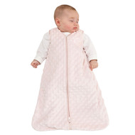 HALO® SleepSack® wearable blanket Plushy Dot Velboa  | Pink