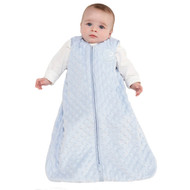 HALO® SleepSack® wearable blanket Plushy Dot Velboa  | Blue