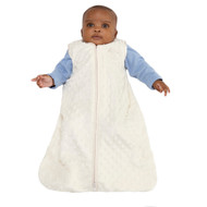 HALO® SleepSack® wearable blanket Plushy Dot Velboa  | Cream