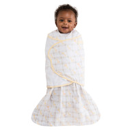 HALO® SleepSack® swaddle 100% Cotton Muslin  | Giraffe Yellow